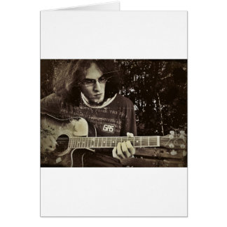 A man and his Guitar. Card