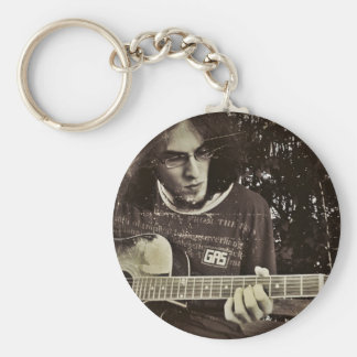 A man and his Guitar. Keychain