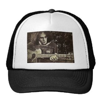 A man and his Guitar. Trucker Hat