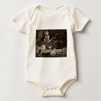 A man and his Guitar. Baby Bodysuits