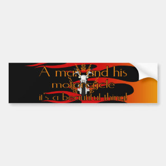 A man and his motorcycle bumper sticker