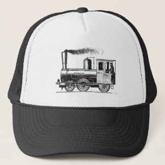 A Man and His Train - Black Trucker Hat