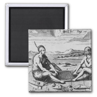 A Man And His Wife At Dinner, 1705 Magnet
