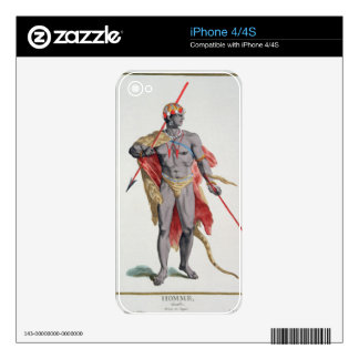 A Man from the Caribbean, 1780 (coloured engraving iPhone 4 Skins