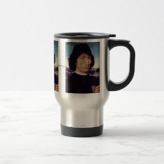 A Man Holding A Coin Of Emperor Nero Coffee Mug