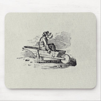 A Man in a Wheelbarrow Mouse Pad