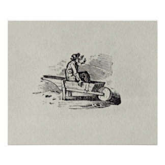 A Man in a Wheelbarrow Posters