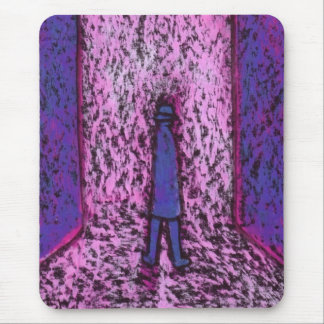 A MAN IN THE PASSAGEWAY MOUSE PAD