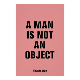 A Man Is Not An Object Poster