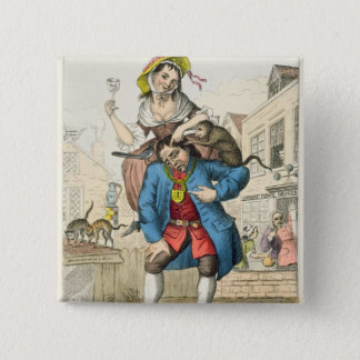 A Man Loaded with Mischief, or Matrimony, c.1766 Button
