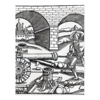 A Man loading a cannon Postcard