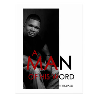 """""""A Man of His Word"""" Postcard"""