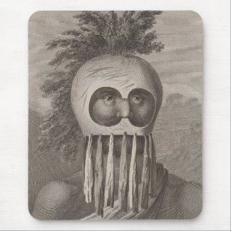A Man of the Sandwich Islands in a Mask - c. 1784 Mouse Pad