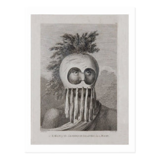 A Man of the Sandwich Islands in a Mask Post Card