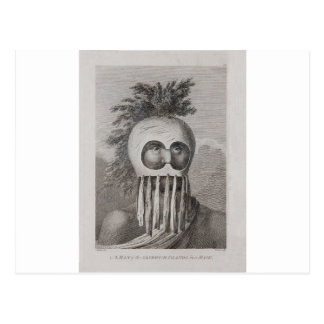 A Man of the Sandwich Islands in a Mask Postcard