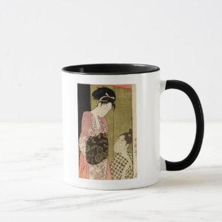 A Man Painting a Woman Mug