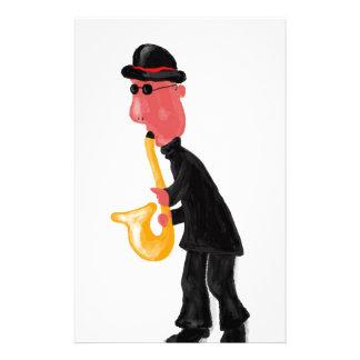A man playing saxophone stationery