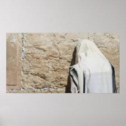 A Man Praying at the Western Wall Poster