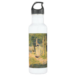 A man removes his boat by Georges Seurat Stainless Steel Water Bottle