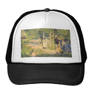 A man removes his boat by Georges Seurat Trucker Hat