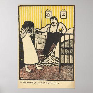 A man reproaches his pregnant mistress poster