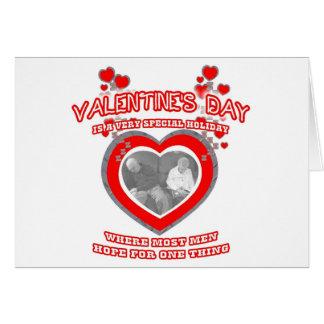 A Man's Valentine's Day Wish Card