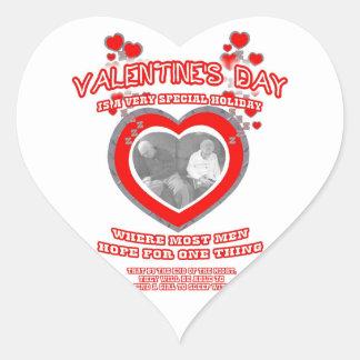 A Man's Valentine's Day Wish Heart Sticker