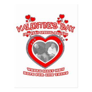A Man's Valentine's Day Wish Postcard