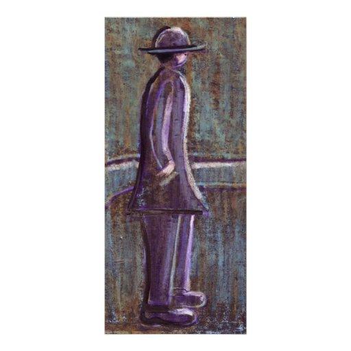 A MAN WAITING CUSTOM RACK CARD