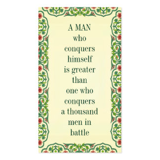 A MAN who conquers himself is greater than one who Double-Sided Standard Business Cards (Pack Of 100)