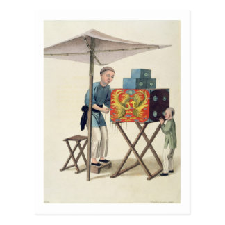 A Man with a Raree-Show, plate 10 from 'The Costum Post Cards