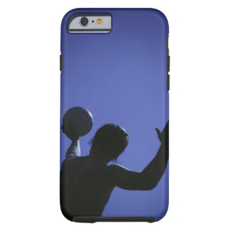 A man with a volleyball tough iPhone 6 case
