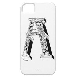 A - Mandala N°1 inside Alphabet N°1 iPhone SE/5/5s Case