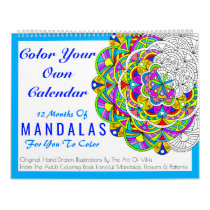 A Mandalas Color Your Own Personalized Color This Calendar