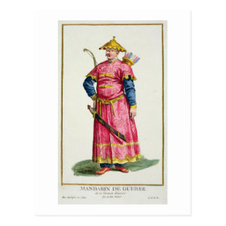 A Mandarin Warlord from 'Receuil des Estampes, Rep Postcard