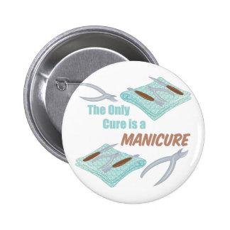 A Manicure Pinback Button