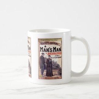 A Man's Man Vintage Book Cover Classic White Coffee Mug