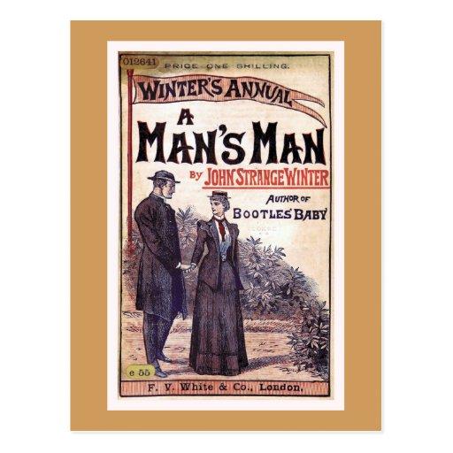 Vintage Book Cover Postcards : A man s vintage book cover postcard zazzle