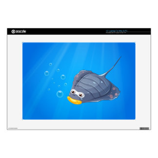 A manta ray under the sea laptop decals