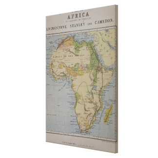 A Map of Africa to Illustrate the Travels of David Canvas Print