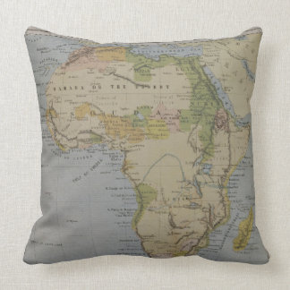 A Map of Africa to Illustrate the Travels of David Throw Pillow