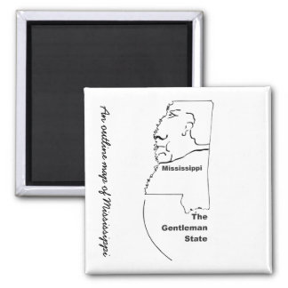 A map of Mississippi fridge magnet Refrigerator Magnet