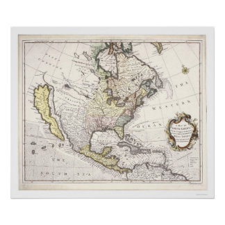 A Map of North America Poster