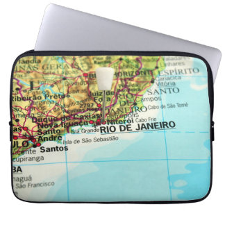 A map of the Brazilian city of Rio de Janeiro Computer Sleeve