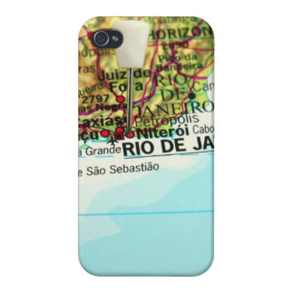A map of the Brazilian city of Rio de Janeiro iPhone 4 Covers