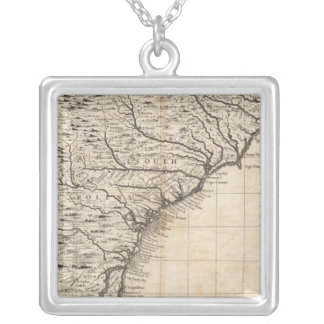 A Map of the British Empire in America Sheet 10 Silver Plated Necklace
