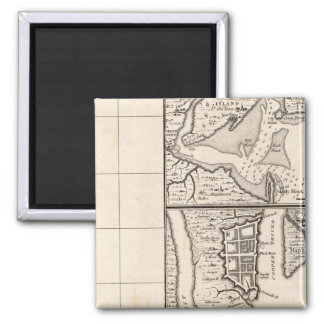 A Map of the British Empire in America Sheet 12 2 Inch Square Magnet