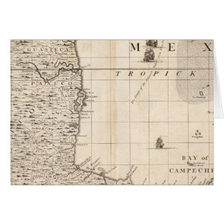 A Map of the British Empire in America Sheet 13 Greeting Card