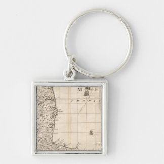 A Map of the British Empire in America Sheet 13 Keychain