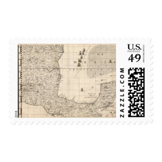 A Map of the British Empire in America Sheet 13 Postage Stamps